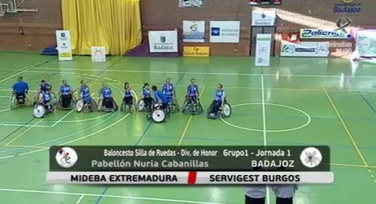 Baloncesto en silla de ruedas: Mideba Extremadura - Servigest Burgos