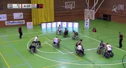 Baloncesto en silla de ruedas: Mideba - Lagún Aro