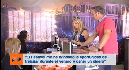 trabajar en el Festival de Mérida (25/06/15)