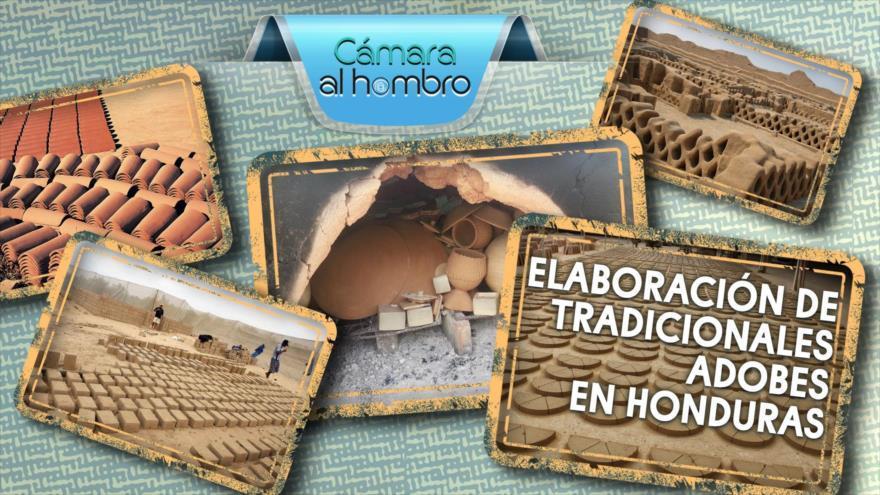Elaboración de tradicionales adobes en Honduras