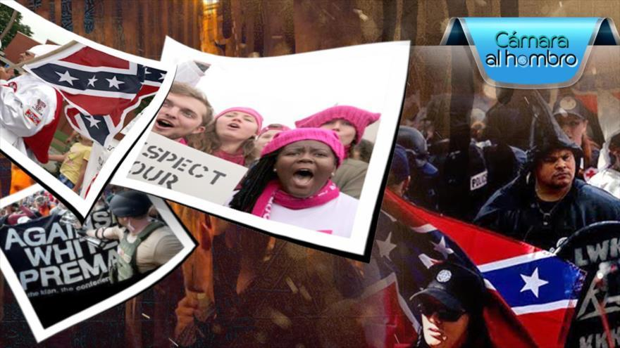 Protestas en los EEUU contra los supremacistas blancos