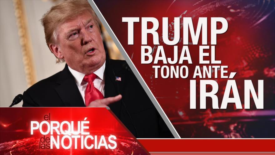 Donald Trump baja el tono hacia Irán. Elecciones europeas. Protestas en Honduras