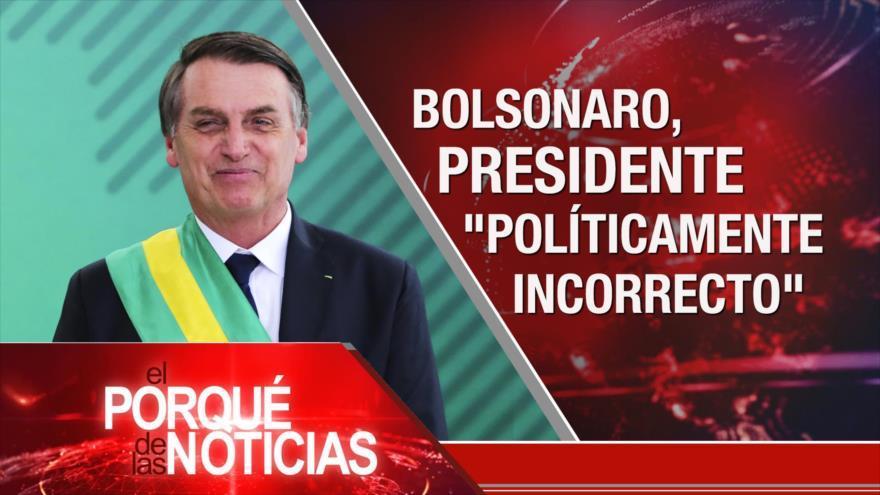 Toma de posesión de Bolsonaro. 60 años de Revolución Cubana. EEUU e Israel salen de Unesco.