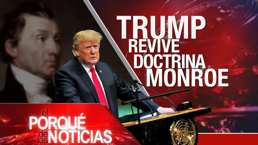 Trump y doctrina Monroe. Cuatro años de Ayotzinapa. Crímenes contra los rohingyas