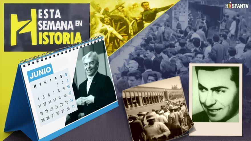 Berlín se divide en dos, Día de Mártires estudiantiles en Uruguay, Se inaugura el Canal de Panamá, Restauración dominicana