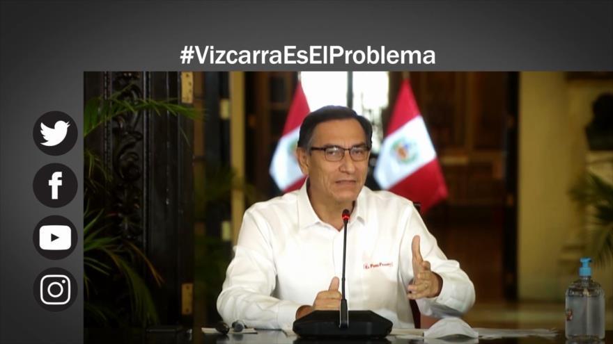 Coronavirus en Perú; crece el descontento con Gobierno de Vizcarra