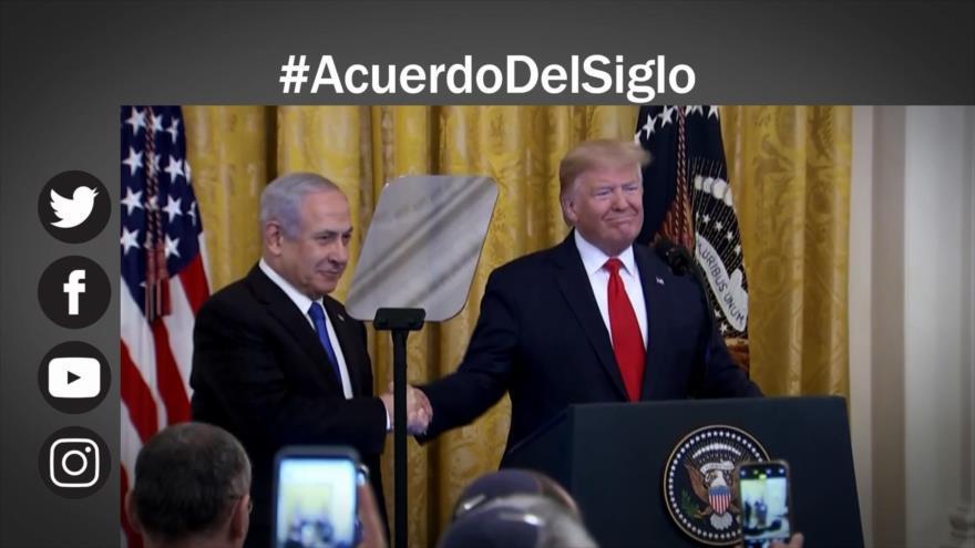 """Rechazo mundial a polémico """"acuerdo del siglo"""" de Trump"""
