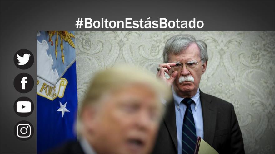 Trump cesa a John Bolton
