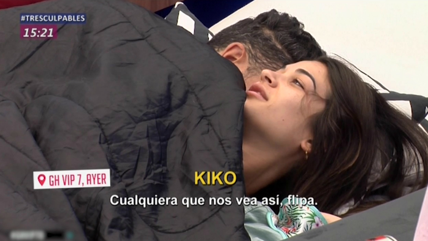 2019 Cazamariposas 1ª edición 255 - El último acercamiento de Estela y Kiko Jiménez en la cama