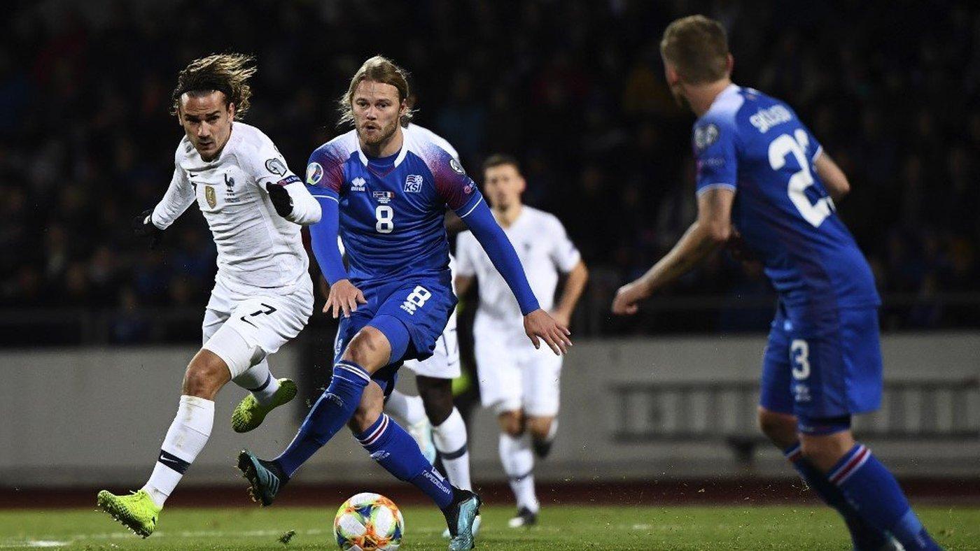Fase de clasificación Islandia - Francia - Jornada 7 Grupo H