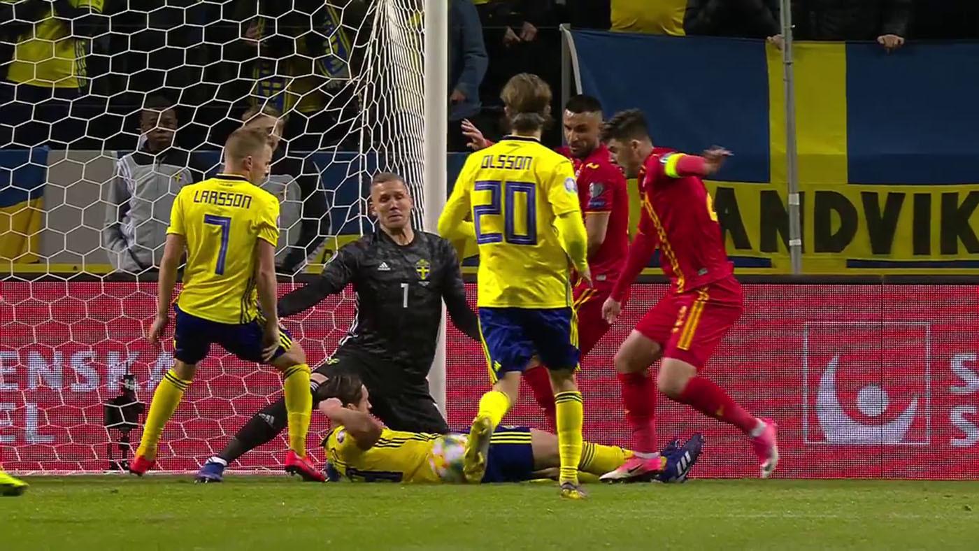 Fase de clasificación Suecia - Rumanía - Jornada 1 Grupo F