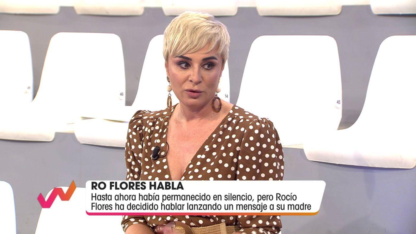 Vídeos Ana María Aldón reacciona al mensaje de Rocío Flores a su madre - Viva la vida 17/04/2021