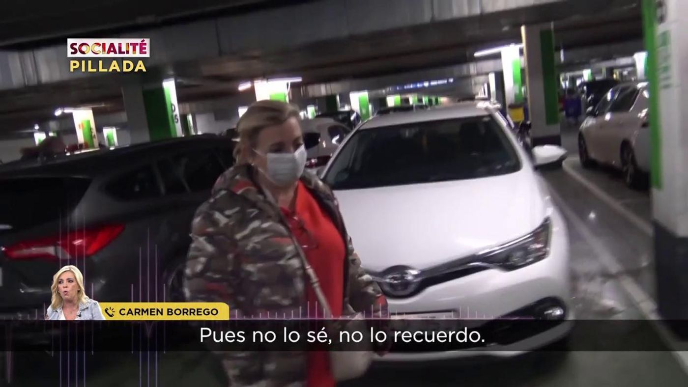 Vídeos Carmen Borrego pierde los nervios tras ser pillada saltándose el cierre perimetral - Socialité 24/04/2021