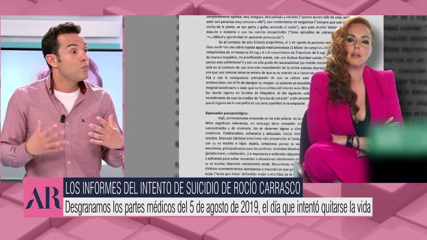 Vídeos Los informes del día que Rocío Carrasco habría intentado quitarse la vida - El programa de Ana Rosa 14/04/2021
