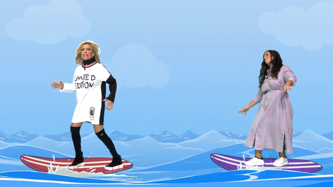 Vídeos Lydia Lozano y Anabel Pantoja surfean las olas que ha provocado Omar Sánchez - Sálvame 23/04/2021