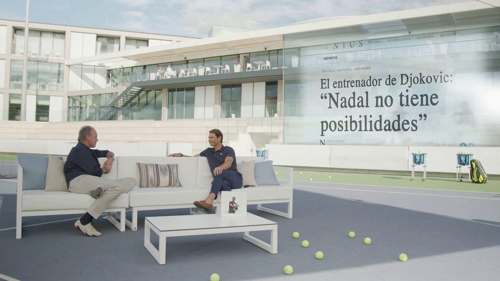 Vídeos Rafa Nadal se pronuncia sobre las desafortunadas declaraciones del entrenador de Djokovic - Mi casa es la tuya Programa 103