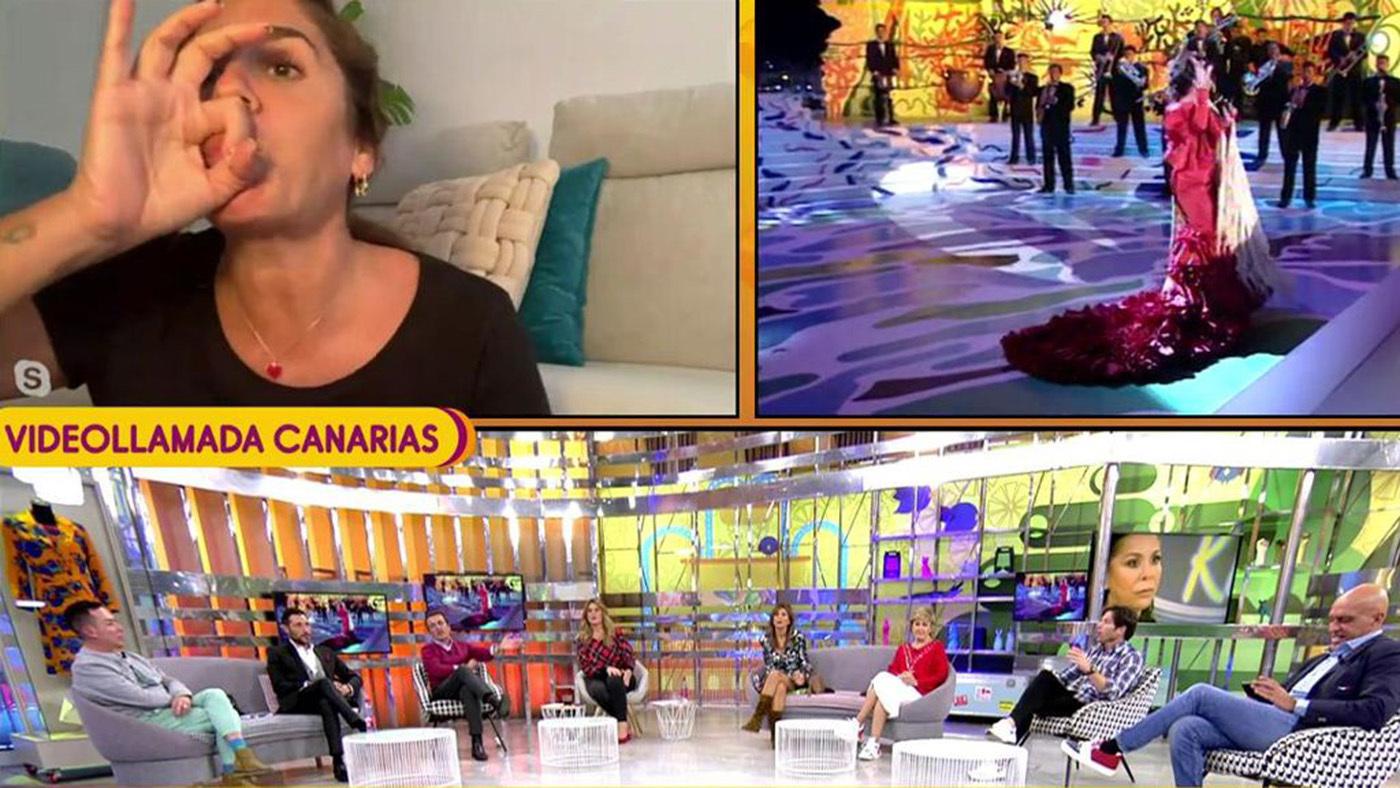 2020 Naranja 11/12/2020 - Anabel Pantoja se harta y corta el directo con una pedorreta