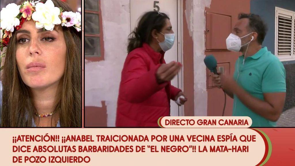 2021 Tomate 16/04/2021 - La supuesta vecina traidora de Anabel Pantoja brota contra 'Sálvame' en directo