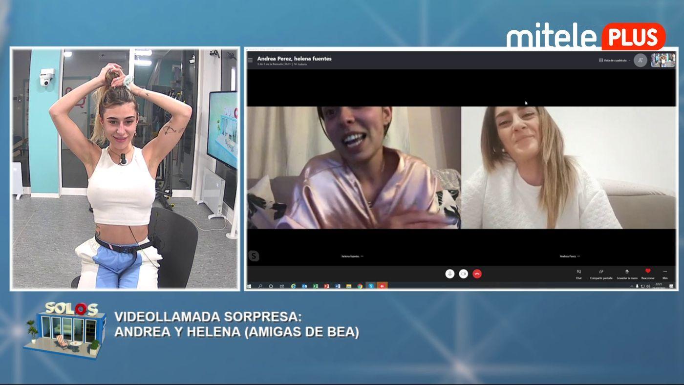 Bea y Dani La videollamada de sus amigas - Sorpresa para Bea
