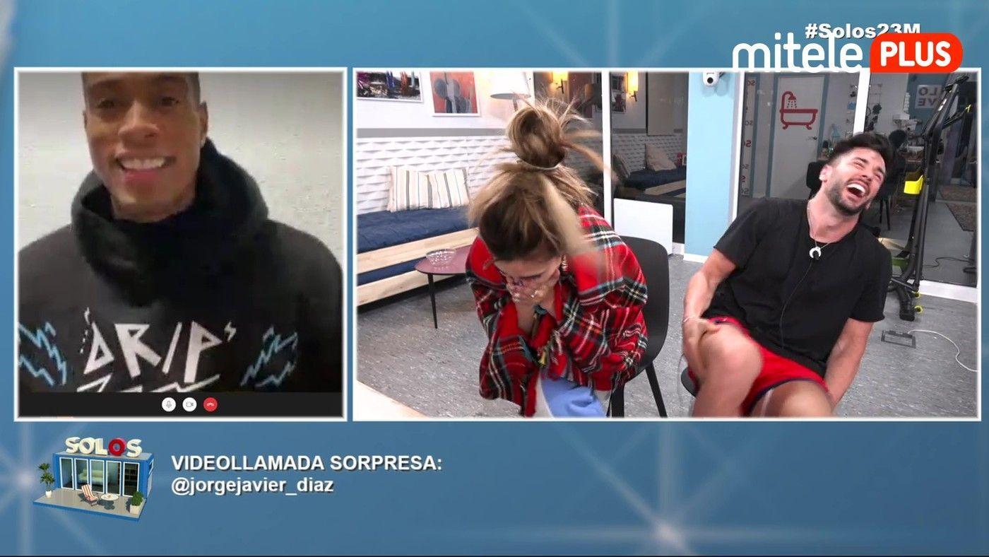Bea y Dani Videollamada de Jorge Javier Díaz - Sorpresa para Dani