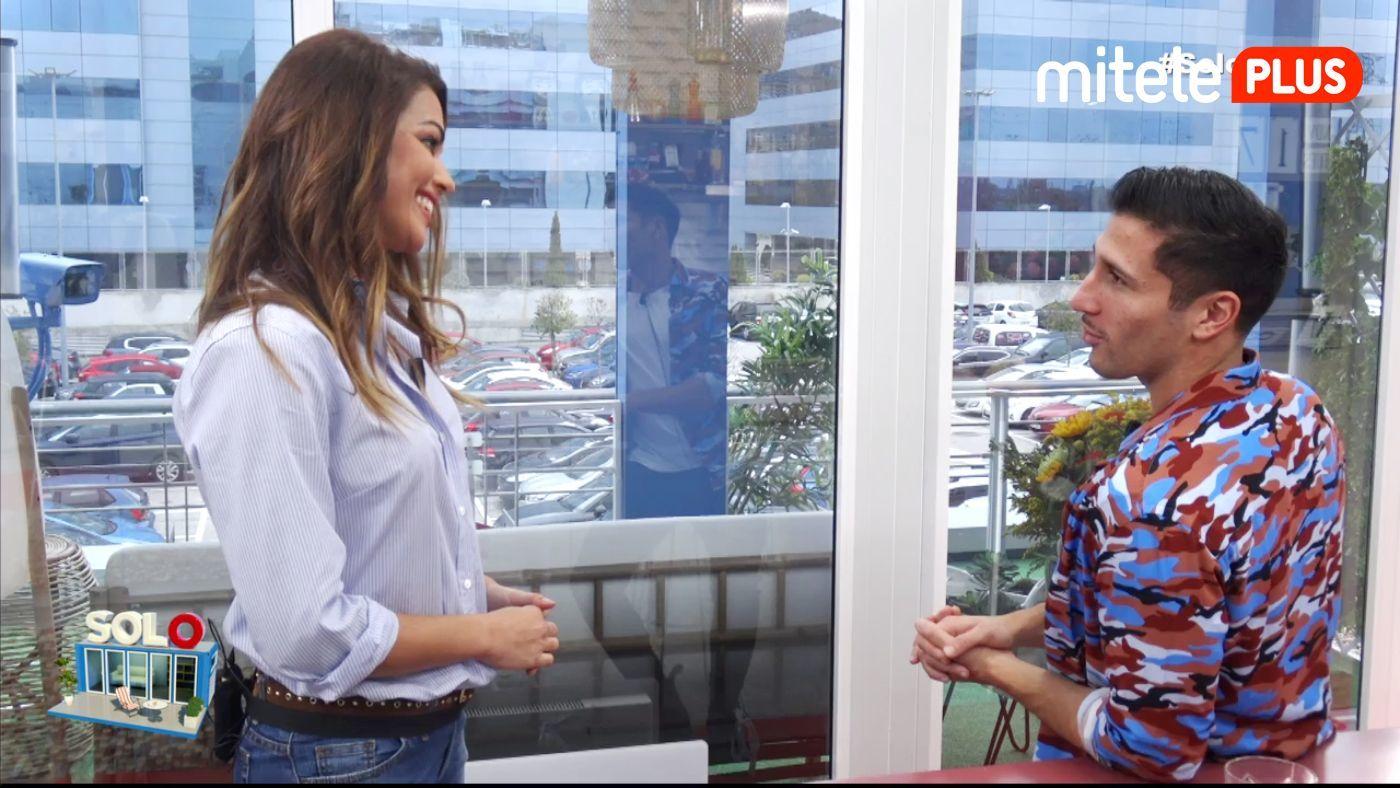 Gianmarco Onestini Visita de Lara Álvarez - La presentadora entra en el pisito