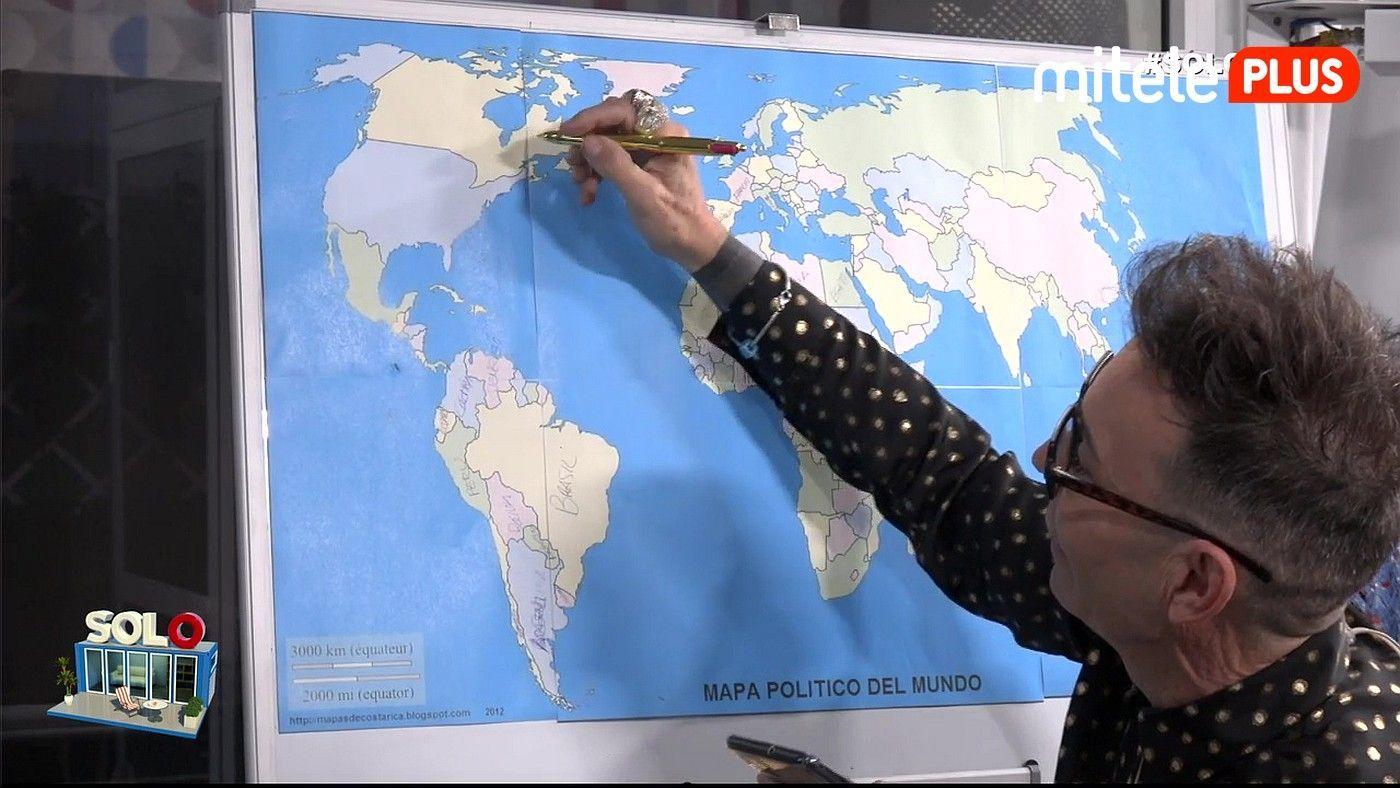 Maestro Joao Reto nada más llegar - Al primer 'Solo' del reality le espera un examen de geografía