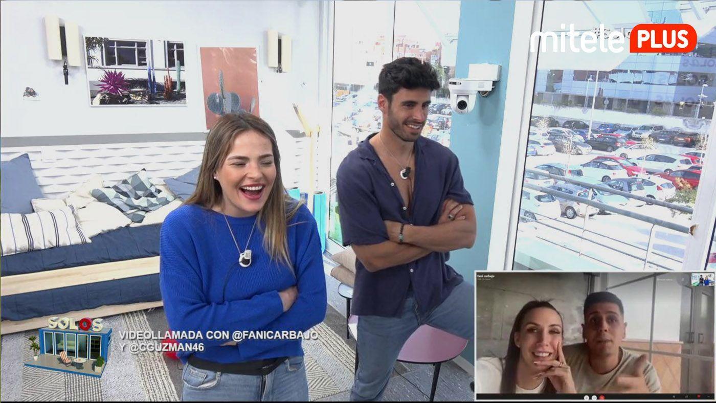 Marta y Noel Videollamada con Fani y Christofer - Las tentaciones llegan al 'pisito'