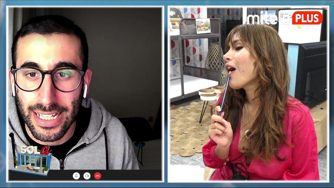 Miriam Saavedra Clase de Euskera - El humorista Mikel Bermejo enseña a Miriam la lengua vasca