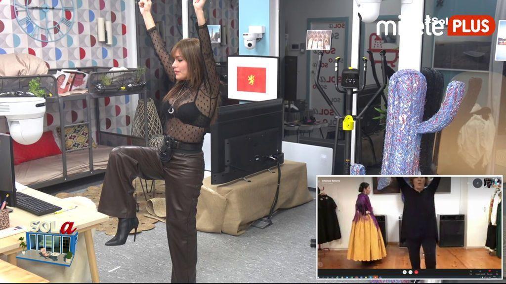 Miriam Saavedra Jota aragonesa - Clase de baile