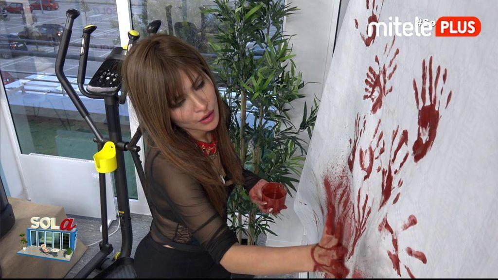 Miriam Saavedra Pintura rupestre - Miriam deja el pisito como las cuevas de Altamira