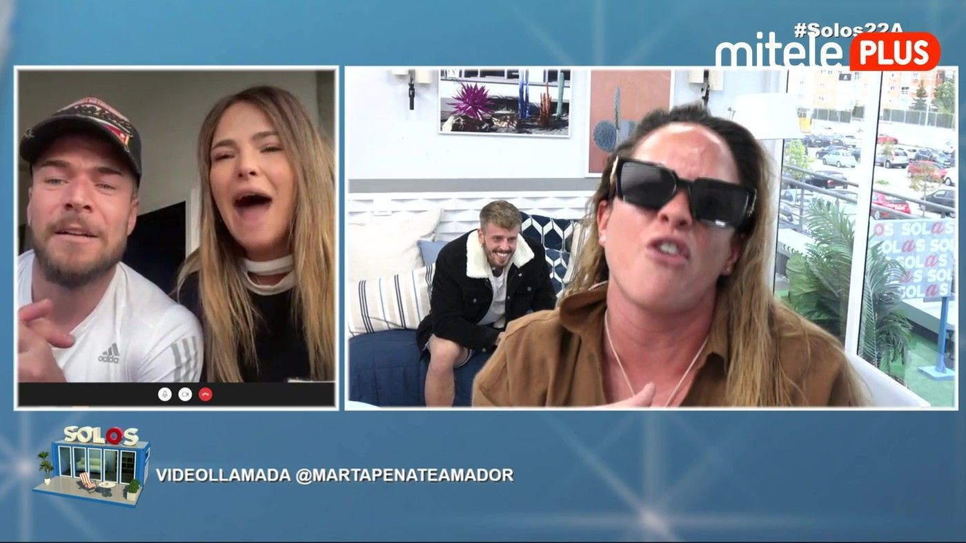 Samira y Óscar Videollamada con Marta Peñate - Una vieja conocida del pisito