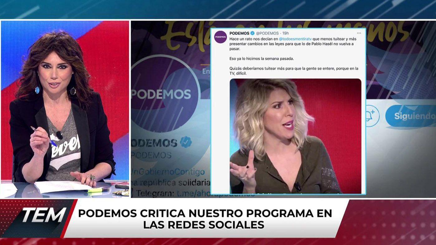 2021 Programa 532 - ¡Lío con Podemos!: el partido critica el programa en sus redes sociales