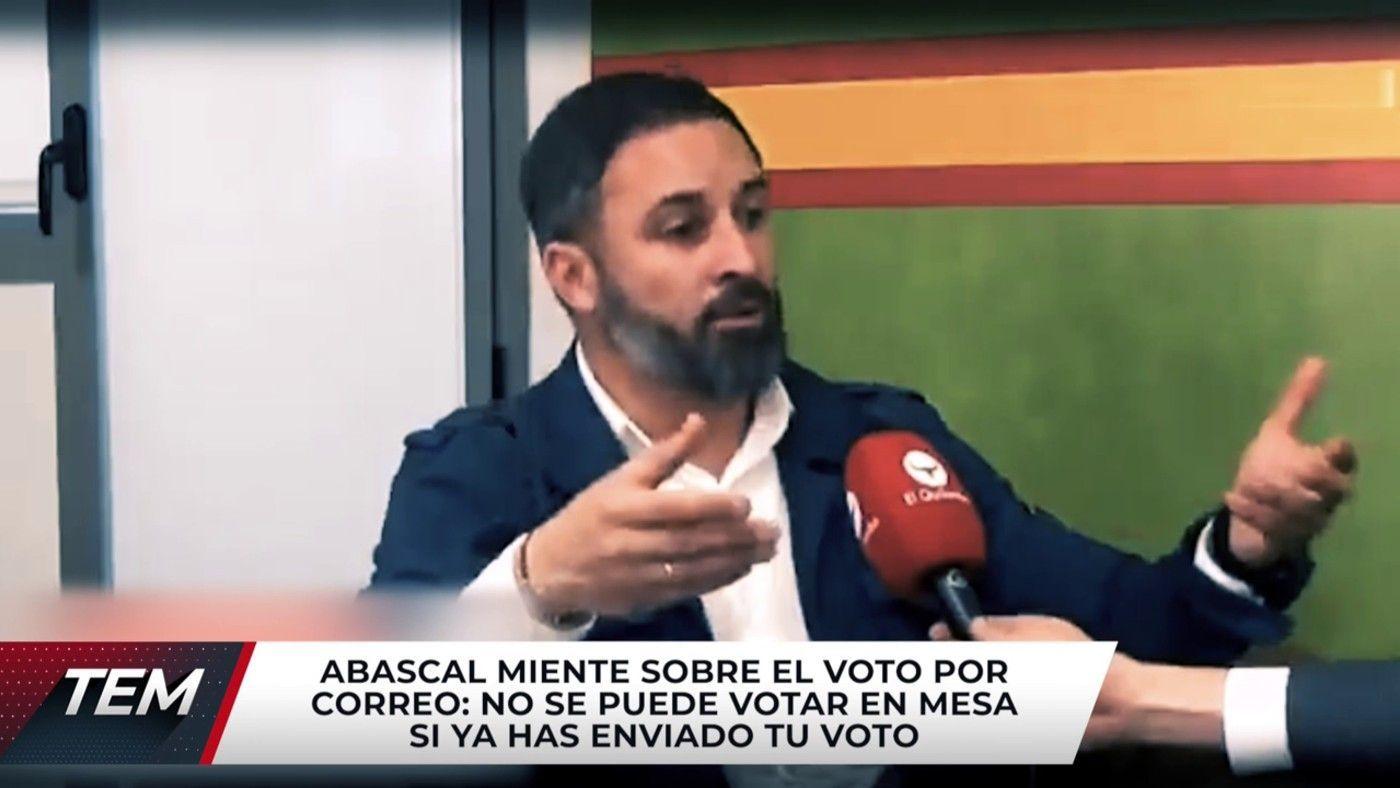 2021 Programa 581 - Santiago Abascal rectifica tras mentir y animar a votar dos veces