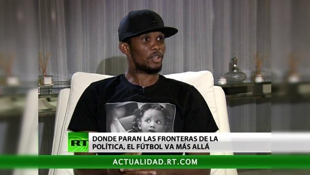 2012-12-10 - Entrevista con Samuel Eto'o, futbolista camerunés del Anzhí de Majachkalá, Rusia