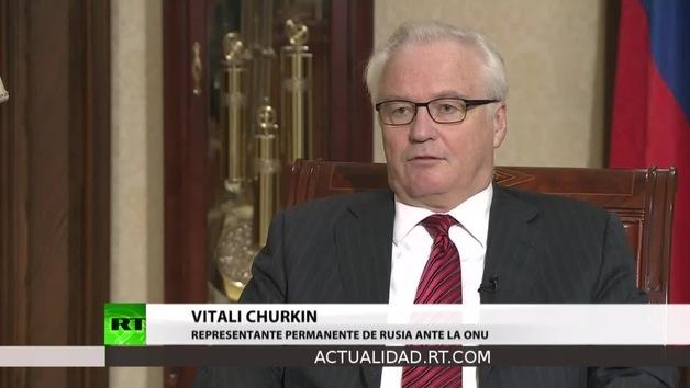 2013-02-14 - Entrevista con Vitali Churkin, representante permanente de Rusia ante la ONU