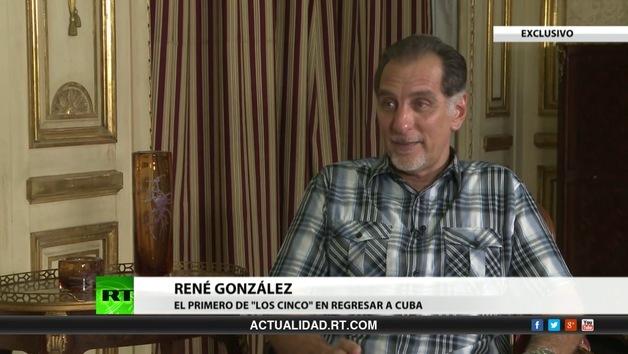 """2013-06-10 - Entrevista exclusiva con René González, el primero de """"los cinco"""" en regresar a Cuba"""