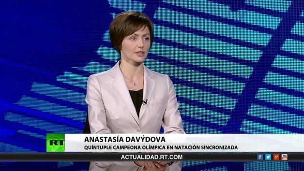 2013-07-22 - Entrevista con Anastasía Davýdova, quíntuple campeona olímpica en natación sincronizada