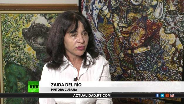 2013-09-19 - Entrevista con Zaida del Río, pintora cubana