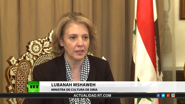 2013-10-24 - Entrevista con Lubanah Mshaweh, ministra de cultura de Siria