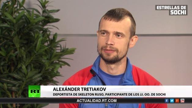 2014-02-15 - Entrevista con el ruso Alexánder Tretiakov, medalla de oro de skeleton en Sochi