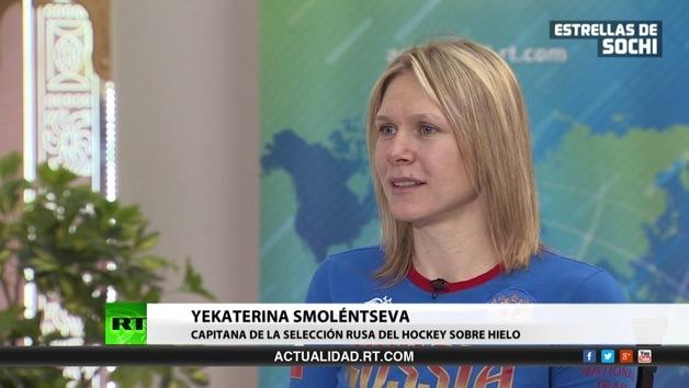 2014-02-17 - Entrevista con Yekaterina Smoléntseva, capitana de la selección rusa de hockey femenino