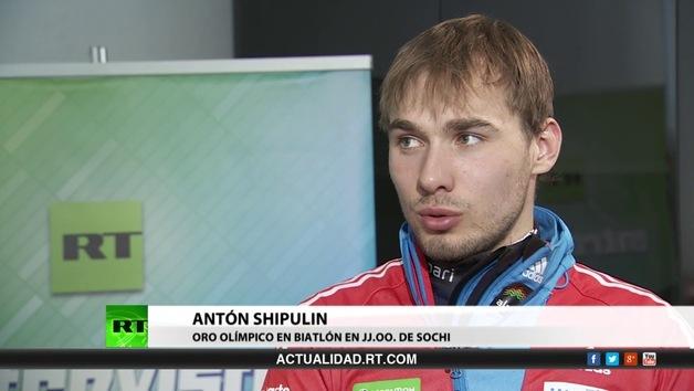 2014-04-14 - Entrevista con Antón Shipulin, oro olímpico en biatlón en los JJ.OO. de Sochi