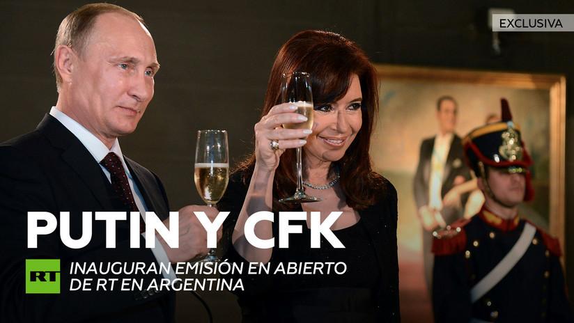 2014-10-09 - Vladímir Putin y Cristina Fernández de Kirchner inauguran emisión en abierto de RT en Argentina