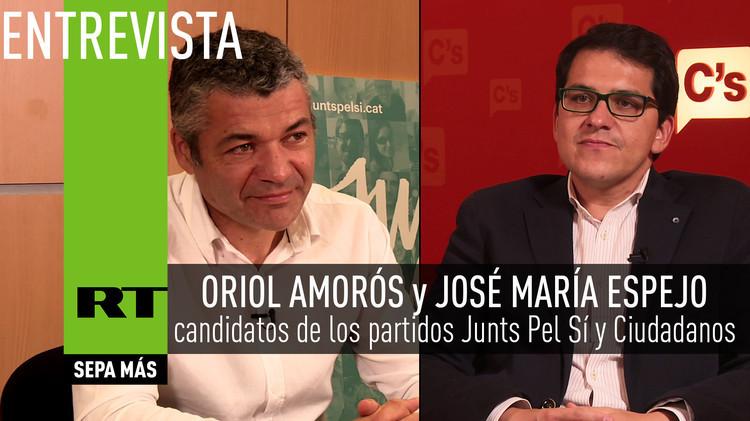 2015-09-25 - Entrevista con candidatos de los partidos Junts Pel Sí y Ciudadanos