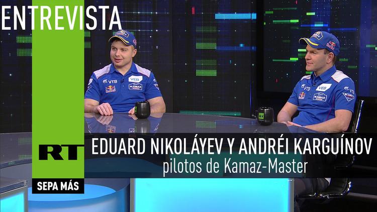 2016-01-02 - Entrevista con Eduard Nikoláyev y Andréi Karguínov, pilotos de Kamaz-Master