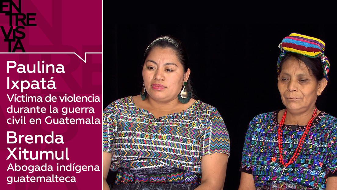 2020-01-16 - Paulina Ixpatá, víctima de violencia durante la guerra civil en Guatemala, y Brenda Xitumul, abogada indígena: