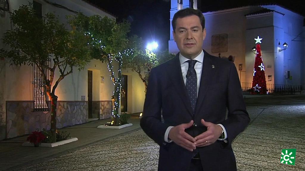 Mensaje de Navidad del presidente de la Junta de Andalucía (30/12/2019)