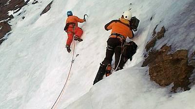 Escalada en hielo. Gavarnie (La solidez del agua)
