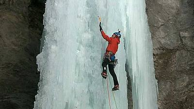 'Una noche con Calipso': escalada en cascadas de hielo de los Alpes (1)