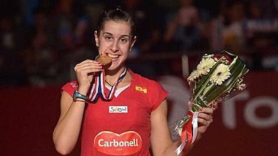 Campeonato del mundo Jakarta (Indonesia). Final: C. Marín-Saina Nehwal